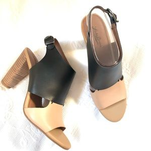Lucky Brand OTTA Black and Tan Heel